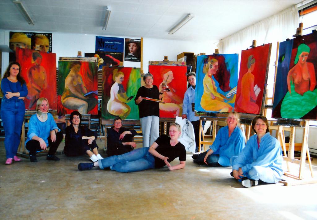 Modelschilderen bij Wherelandt te Purmerend